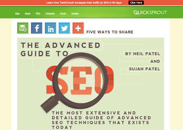 Quick Sprout Content Marketing