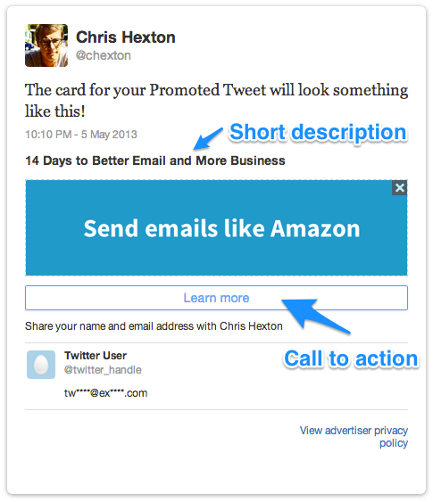 example twitter card