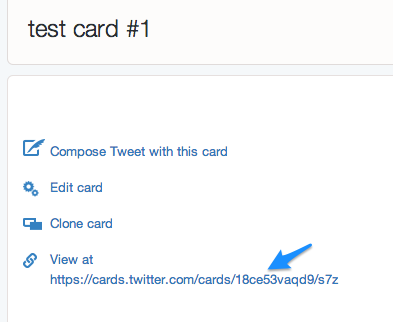 view twitter card