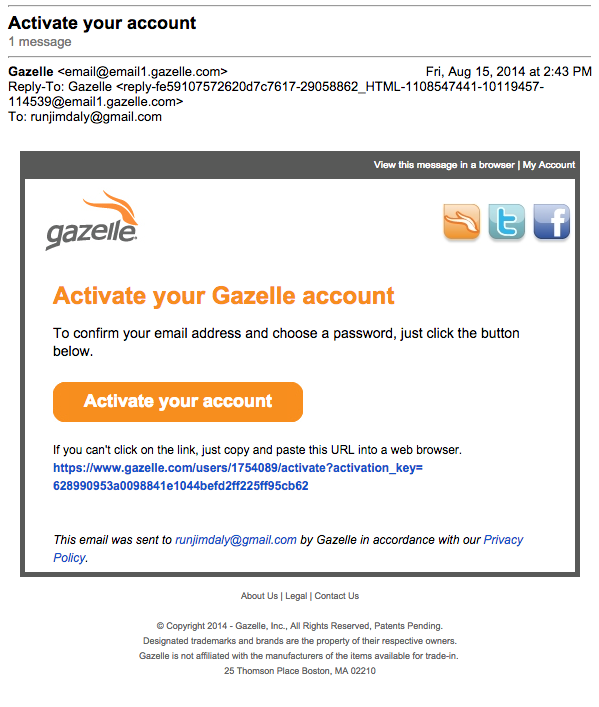 Gazelle_Activation_Email