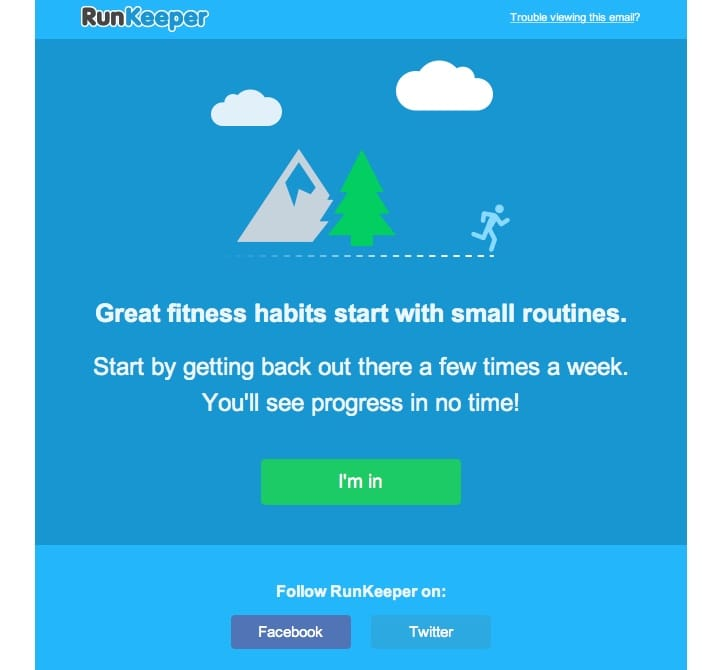 RunKeeper retention email