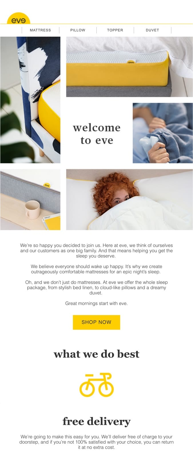 email example eve sleep