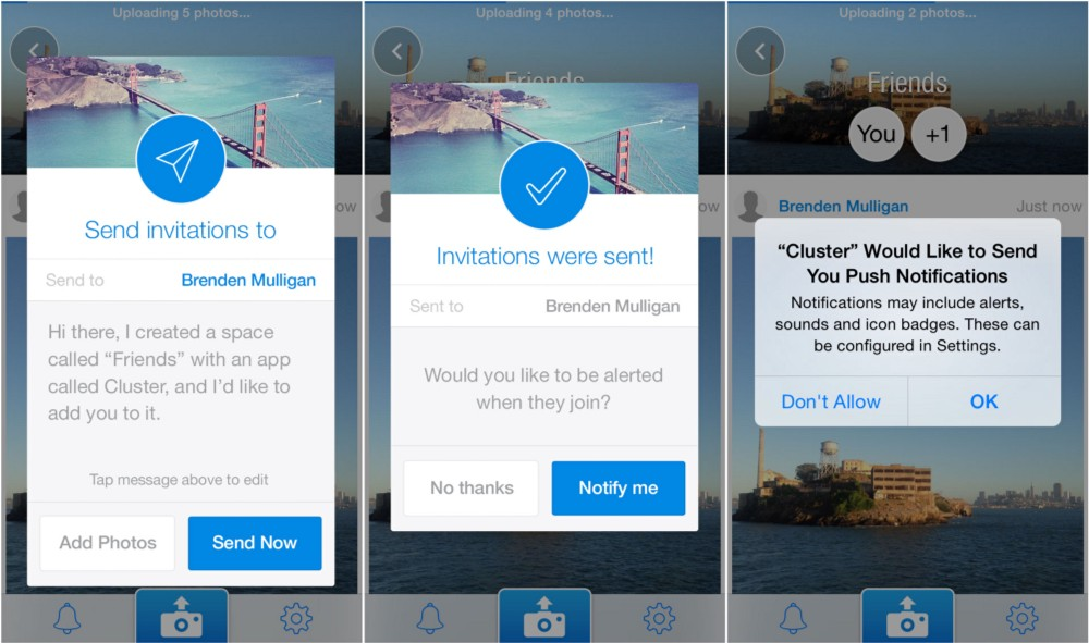 cluster mobile push notifications permissions