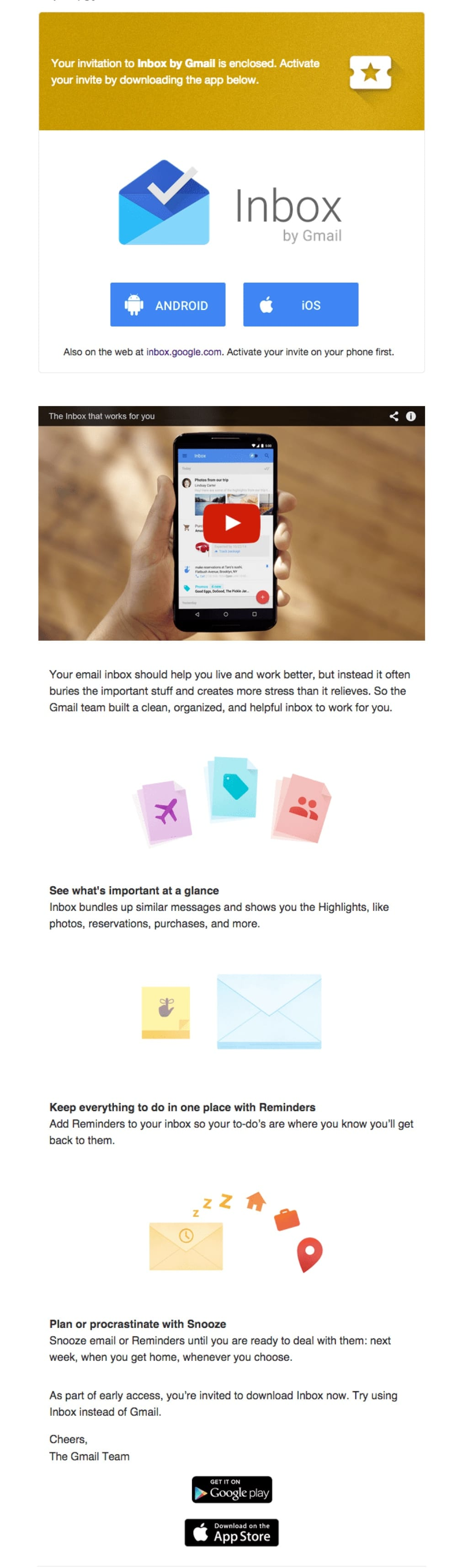 promotional email example gmail (invitation email)