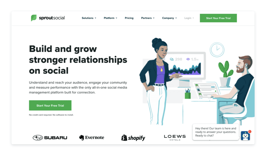 Sprout Social marketing stack example