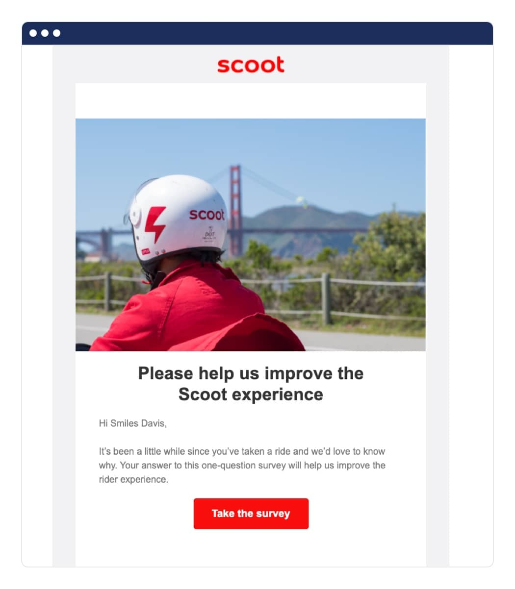 Scoot winback campaigns example