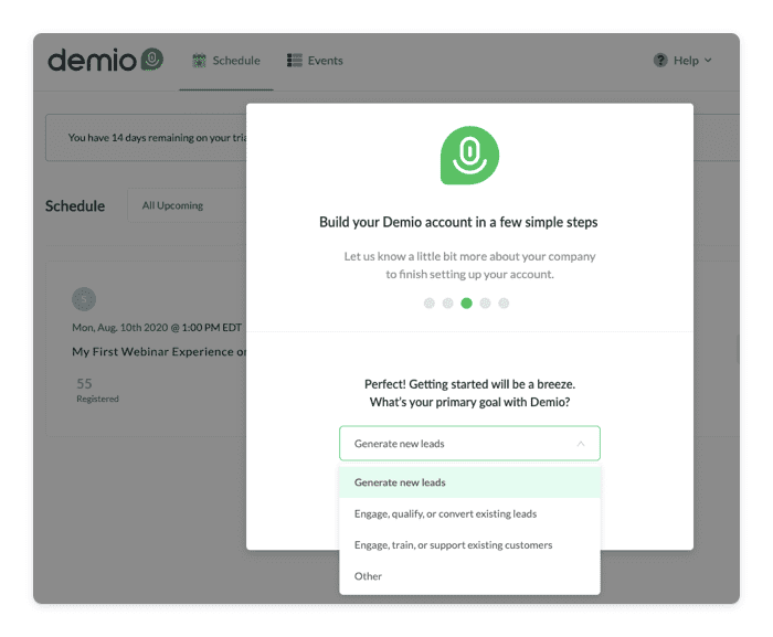 Demio free trial emails example